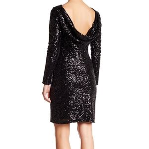 Vince Camuto Long Sleeved Sequin Black dress
